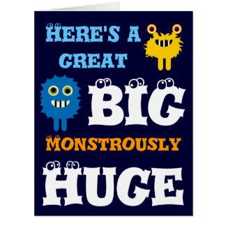 Monster Great BIG Huge 8 x 11 Happy Birthday Card