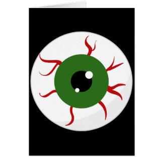 Monster Green Bloodshot Eyeball Stationery Note Card
