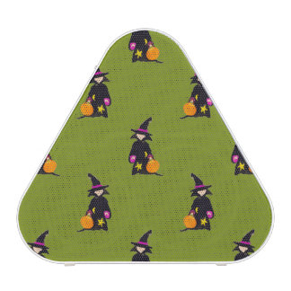 Monster Green Halloween Toddler Witch Bluetooth Speaker