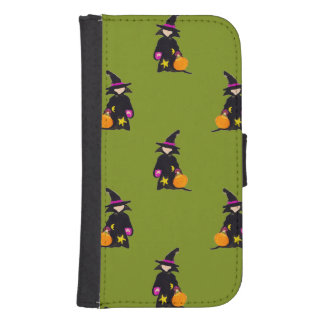 Monster Green Halloween Toddler Witch Phone Wallets