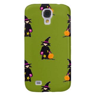Monster Green Halloween Toddler Witch Samsung Galaxy S4 Case