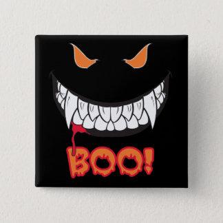 Monster Grin Boo! Men's Black Square Button