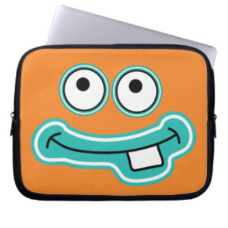 Monster Grin with Big Eyes Cartoon Face Computer Sleeve