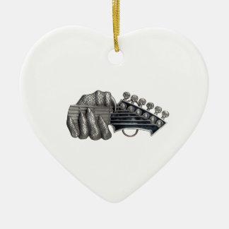 Monster Guitar Hand Ceramic Ornament
