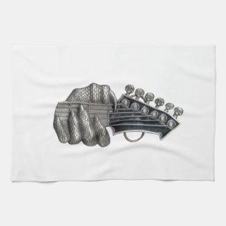 Monster Guitar Hand Kitchen Towel