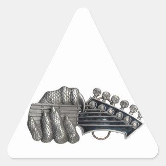Monster Guitar Hand Triangle Sticker