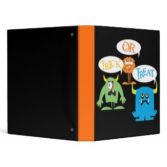Monster Halloween avery binder