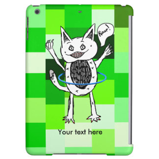Monster having fun playing with a hoop iPad air case