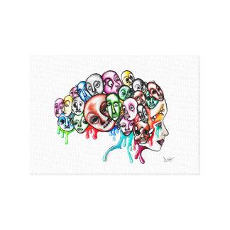 Monster Head Art Canvas Print