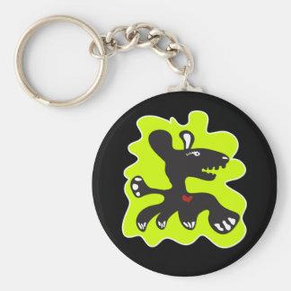 monster heart keychain