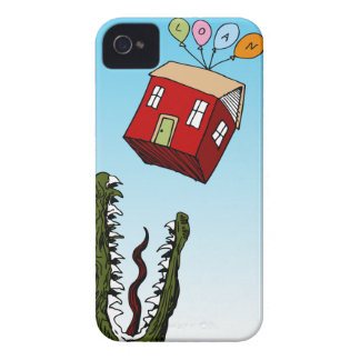 Monster Home Mortgage Loan Cartoon iPhone 4 Case