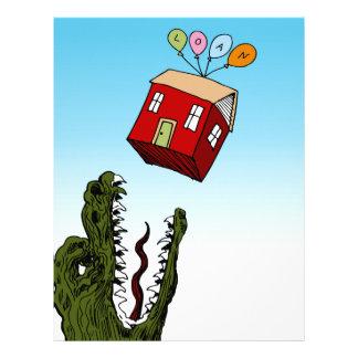 Monster Home Mortgage Loan Cartoon Letterhead