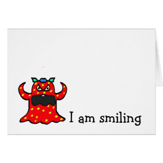 monster, I am smiling Card