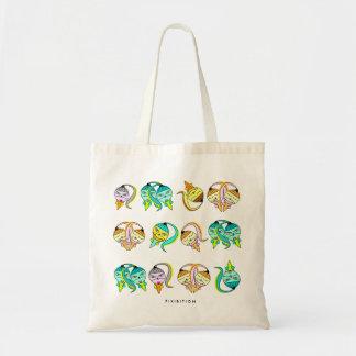 Monster Icecream Cone Pattern Tote Bag