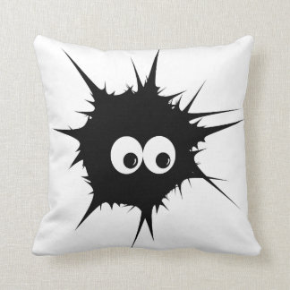Monster in black throw pillow