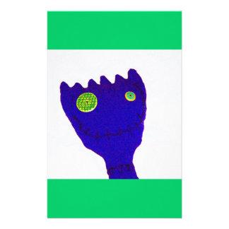 Monster in  Blue Custom Stationery