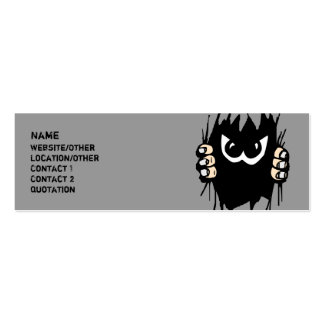 Monster in my profile card! mini business card