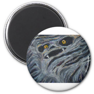 Monster in the wood 2 inch round magnet