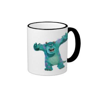 Monster Inc. Sulley Disney asustadizo Taza De Dos Colores