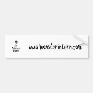 Monster Intern Car Tagger Bumper Sticker