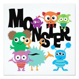Monster 5.25x5.25 Square Paper Invitation Card