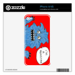 Monster Iphone 4 cover Decal For iPhone 4