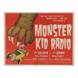 Monster Kid Radio Meets The Giant Gila Monster Postcard