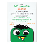 "Monster Kids Halloween Birthday Party Invitations 4.5"" X 6.25"" Invitation Card"