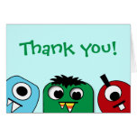 Monster Kids Thank You Greeting Card