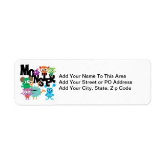 Monster Return Address Labels