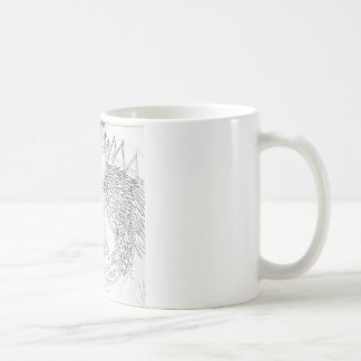 monster lizard cartoon coffee mug