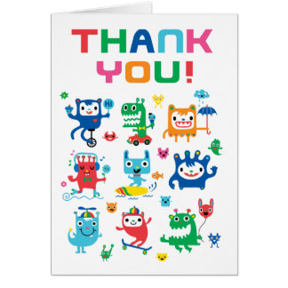 Monster Love Thank You card