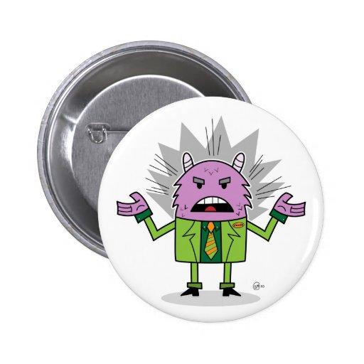Monster Loves A Suit - Button