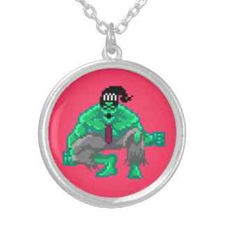 Monster Man 8-Bit Pixel Necklace
