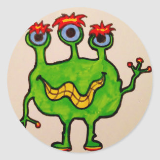 Monster Mania Classic Round Sticker
