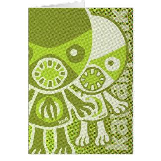 Monster Mascot Greeting Card