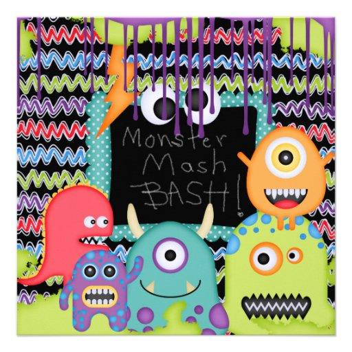 Monster Mash Bash Birthday Invitation