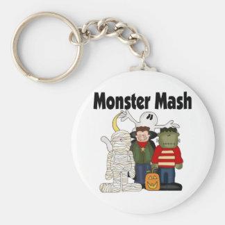 Monster Mash Basic Round Button Keychain