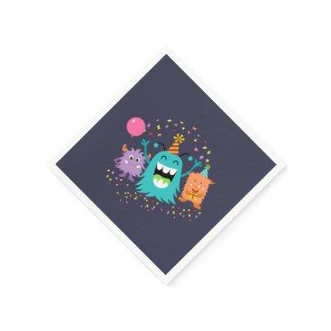 Halloween Themed MONSTER MASH BIRTHDAY monster party napkins