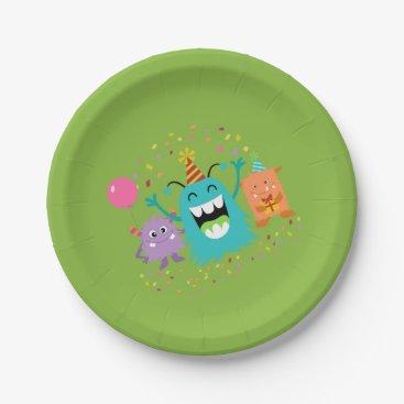 Halloween Themed MONSTER MASH BIRTHDAY monster party plates