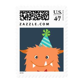 MONSTER MASH BIRTHDAY PARTY postage stamp