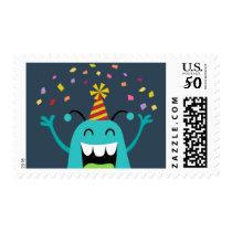 MONSTER MASH BIRTHDAY PARTY postage stamp