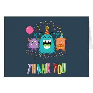 MONSTER MASH BIRTHDAY thank you card