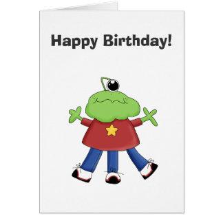 Monster Mash · Green One-Eyed Monster Greeting Card