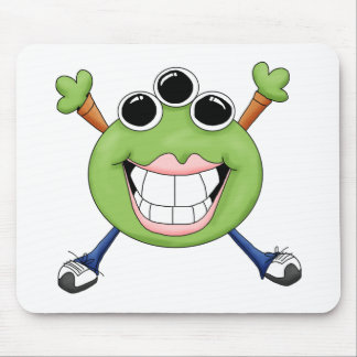 Monster Mash · Green Three-Eyed Monster Mouse Pad