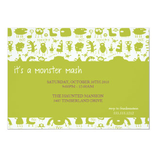 monster mash {halloween party invitation} card