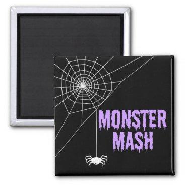 Halloween Themed Monster Mash Halloween Spider Web Magnet