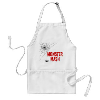 Monster Mash Halloween Spiderweb Adult Apron