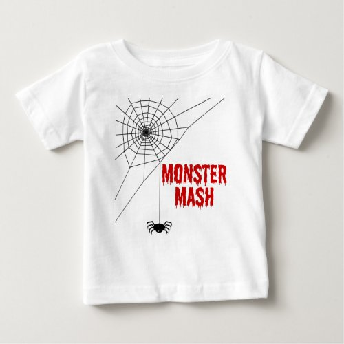 Monster Mash Halloween Spiderweb Baby T-Shirt