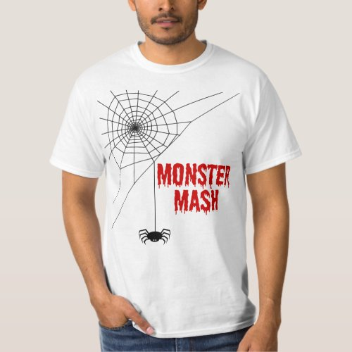 Monster Mash Halloween Spiderweb T-Shirt